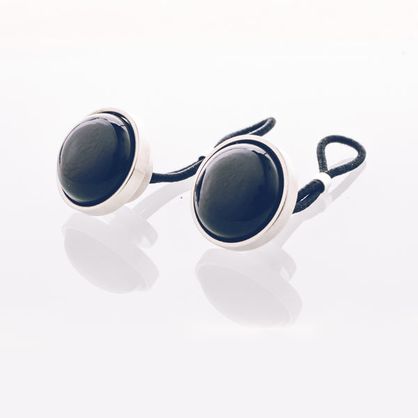 Black Onyx - Stainless Steel Cufflink