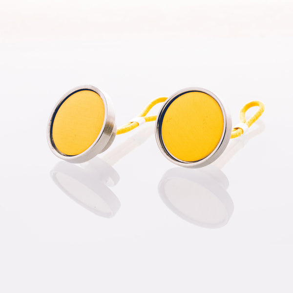 Gold Anodized Aluminum // Stainless Steel Cufflink
