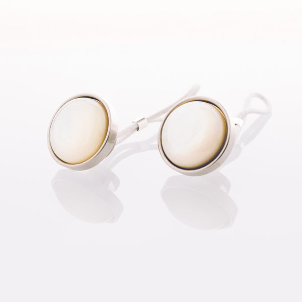 Mother of Pearl // Stainless Steel Cufflink