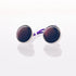 Purple Cat's Eye - Stainless Steel Cufflink