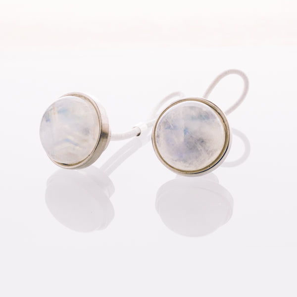 Rainbow Moonstone - Stainless Steel Cufflink
