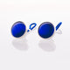 Royal Blue Cat's Eye // Stainless Steel Cufflink