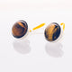 Tiger's Eye // Stainless Steel Cufflink