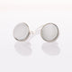 White Cat's Eye // Stainless Steel Cufflink