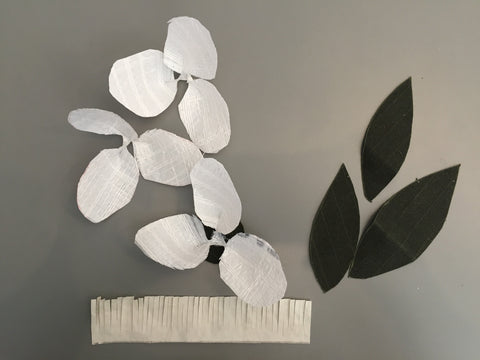 Recycled Rice Bag craft magnolia hot glue