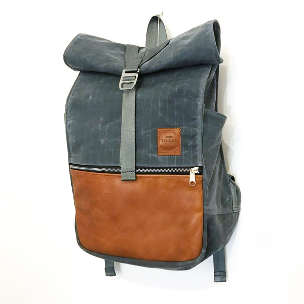 Roulez Pack Charcoal w/ Peanut Butter Leather