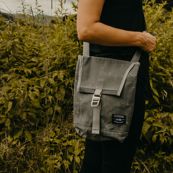 Convertible Mini Flap Pack Charcoal