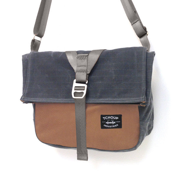 Charcoal Roulez Satchel w/ Leather