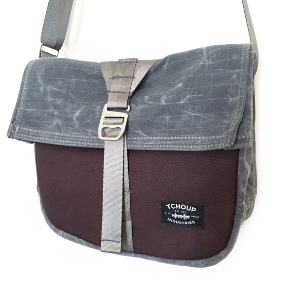 Roulez Satchel Charcoal w/ Rich Brown Leather