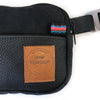 Fanny Pack Slim Black Leather