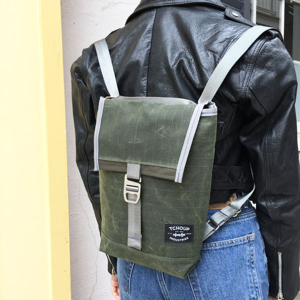 Convertible Mini Flap Pack Olive
