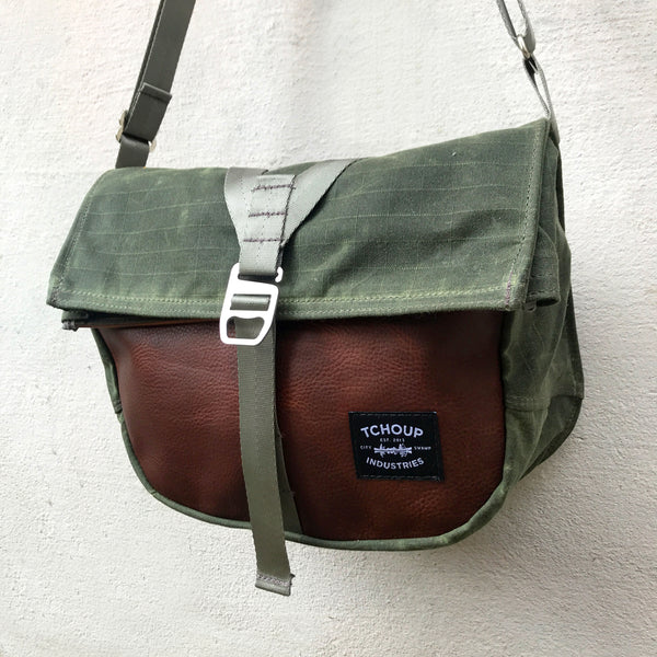 Roulez Satchel Olive w/ Rich Brown Leather