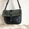 Roulez Satchel Olive w/ Black Leather