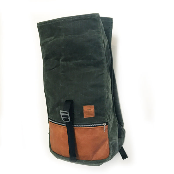 Roulez Pack Olive w/ Peanut Butter Leather