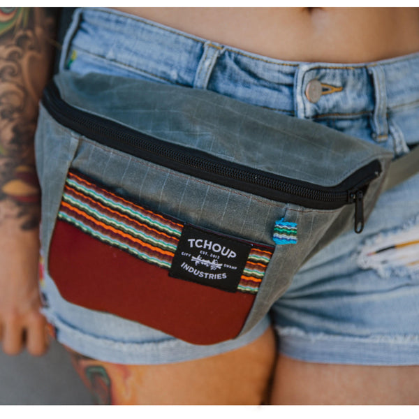 Fanny Pack Charcoal w/ Woven Panel