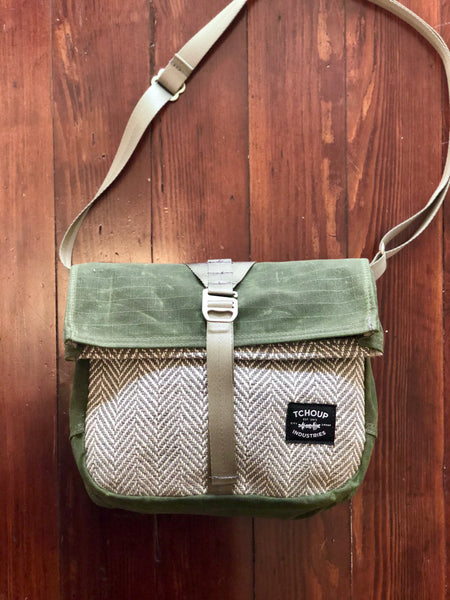 Roulez Satchel Olive w/ Good Vibes Woven