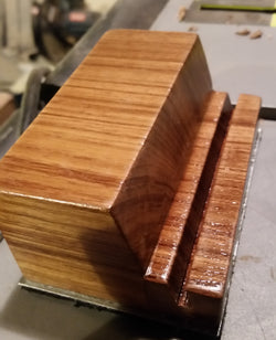 Burmese Teak Business Card Holder