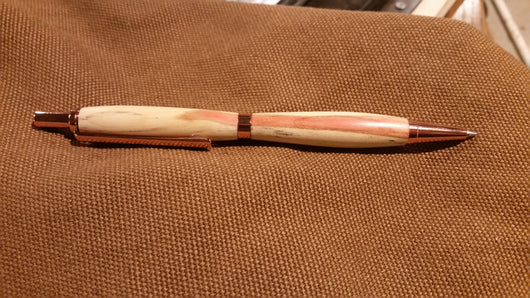 Red Box Elder Mechanical Pencil with Copper Hardware