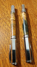 2 PEN SET - Buckeye Burl Fountain Pen & Rollerball Set