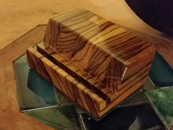 Zebrawood Business Card Holder