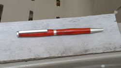 Redheart Slimline Pen with Satin Chrome Hardware