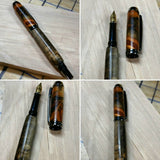 Norfolk Island Pine Burl Fountain Pen with Black Titanium Hardware