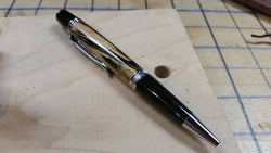 Spalted Tamarind Wall Street II Pen with Chrome Hardware