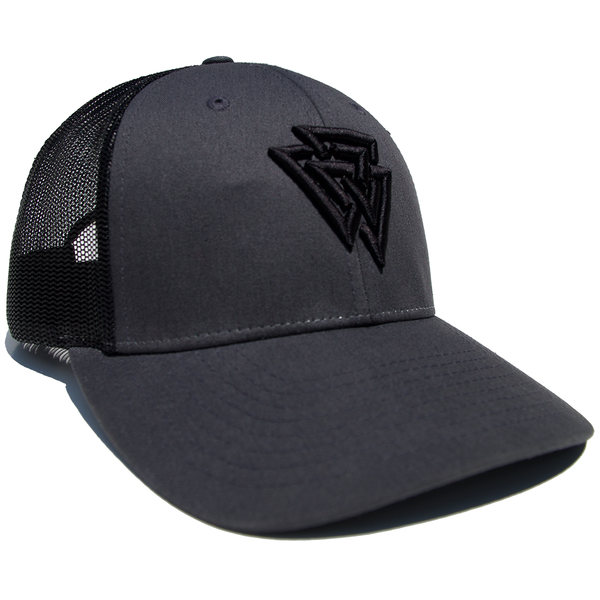 Black/Grey Valknut Snapback
