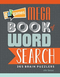 go!games Mega Book of Word Search book cover image