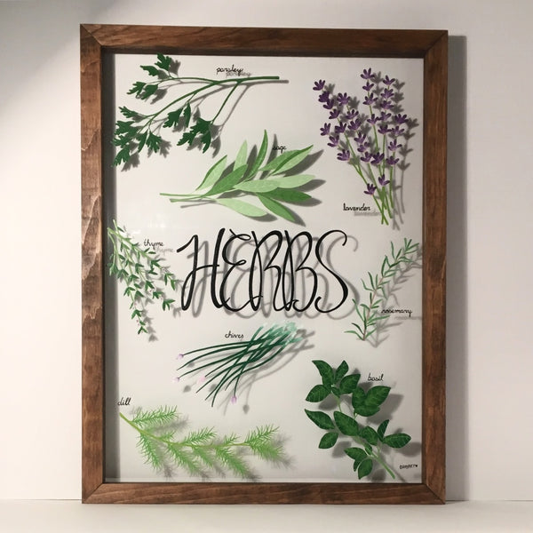 Herb Garden on Glass