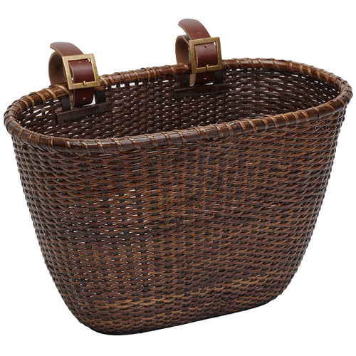 Dreamcatcher Handwoven Cane Basket - Dark Stain