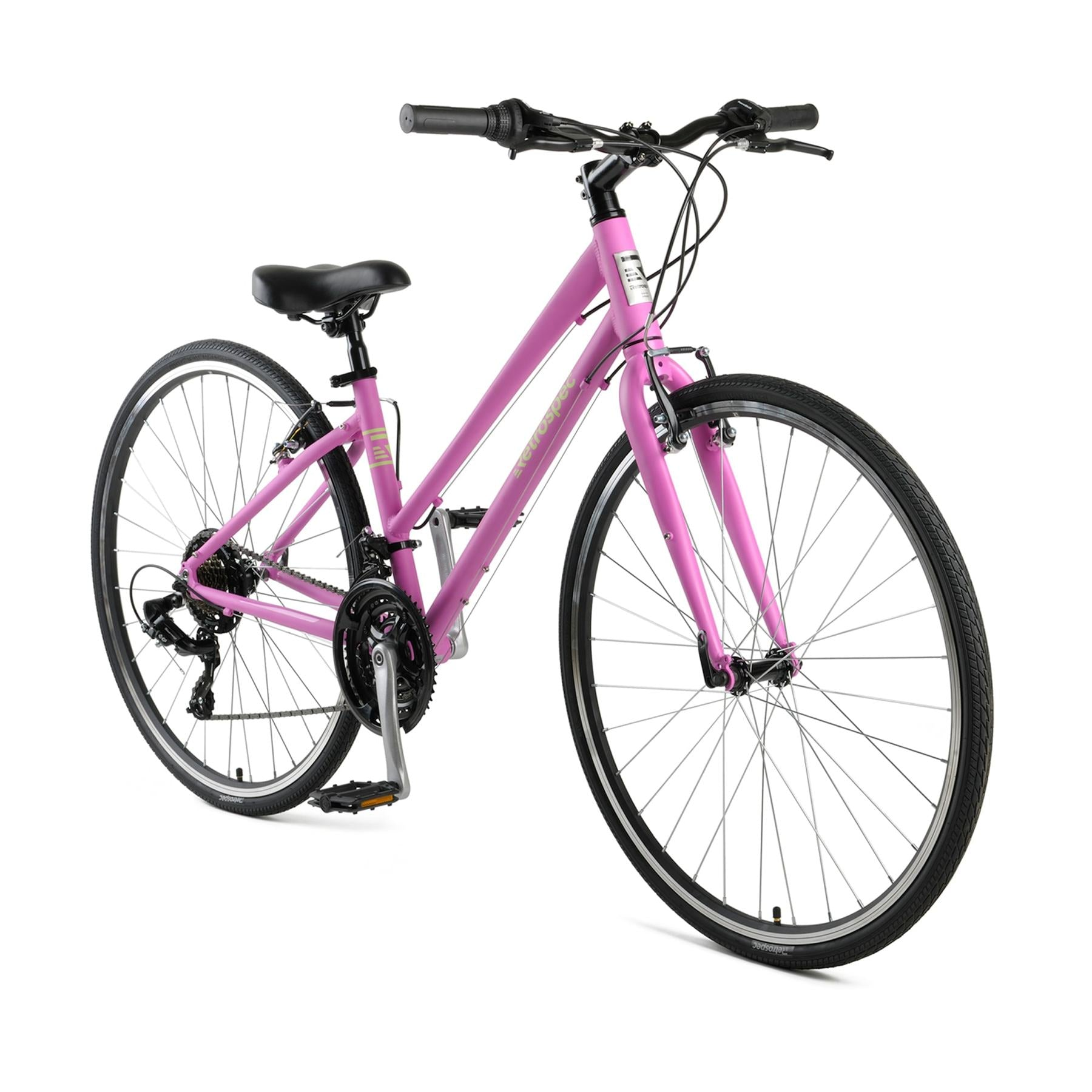 Atlas Hybrid Bike, Step-Thru - Matte Flamingo