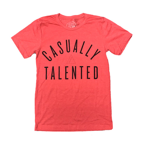 Casually Talented Tee - Heather Red