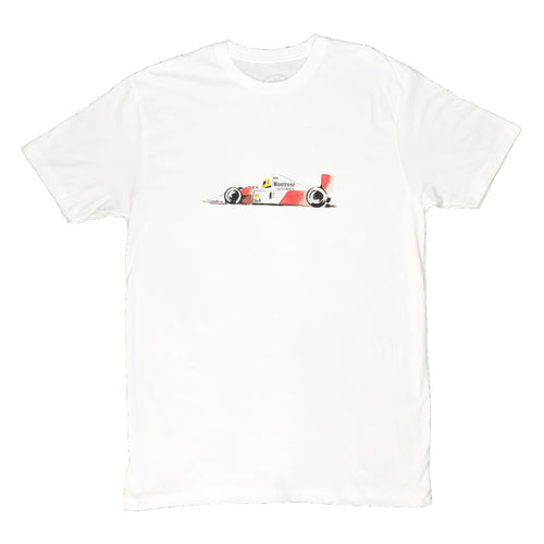 Handdrawn F1 Racer - White