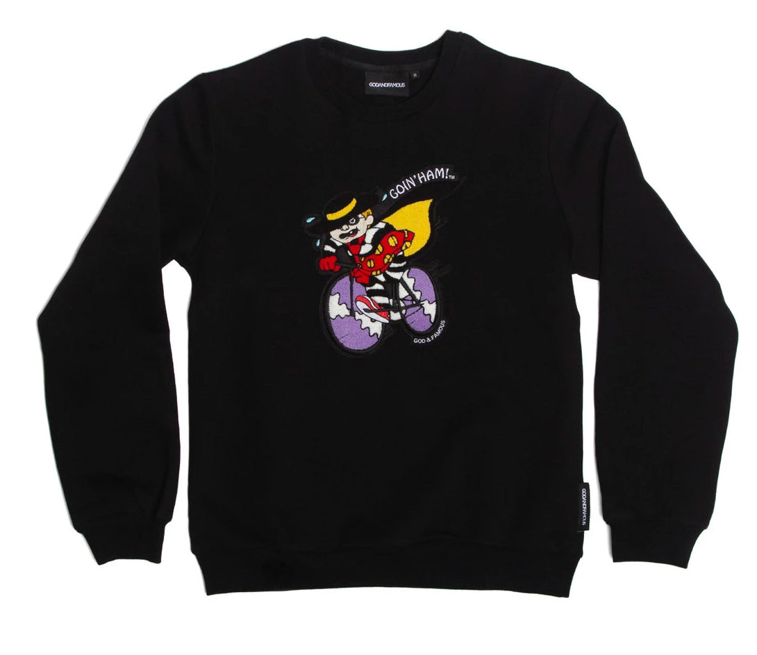 HAM CREWNECK SWEATSHIRT - Black