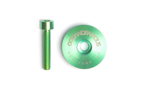 Team Titanium Top Cap - Green