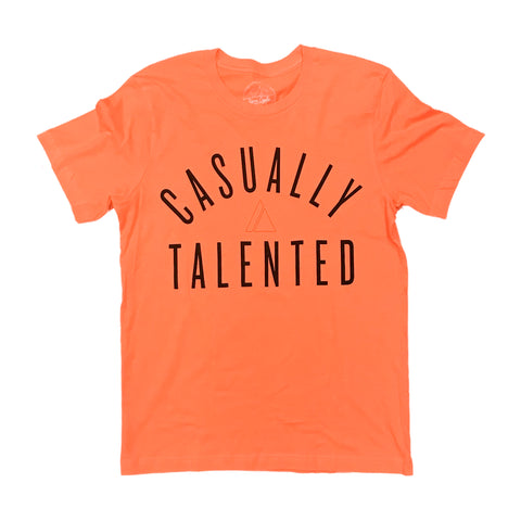 Casually Talented Tee - Orange/Black