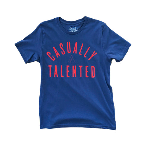 Casually Talented Tee - Battle Red/Navy