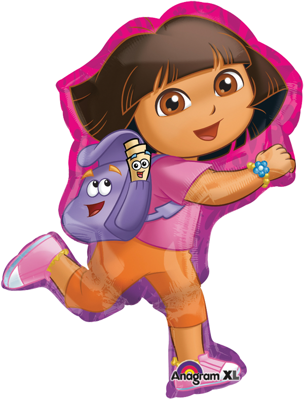 Dora Off Exploring SuperSh Globo Metálico