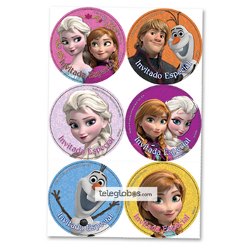24 Distintivos de Frozen