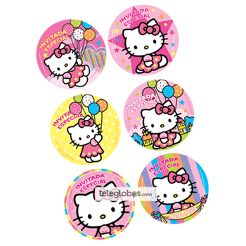 24 Distintivos de Hello Kitty