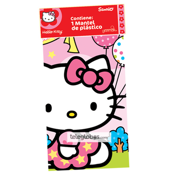 Mantel Plastico de Hello Kitty
