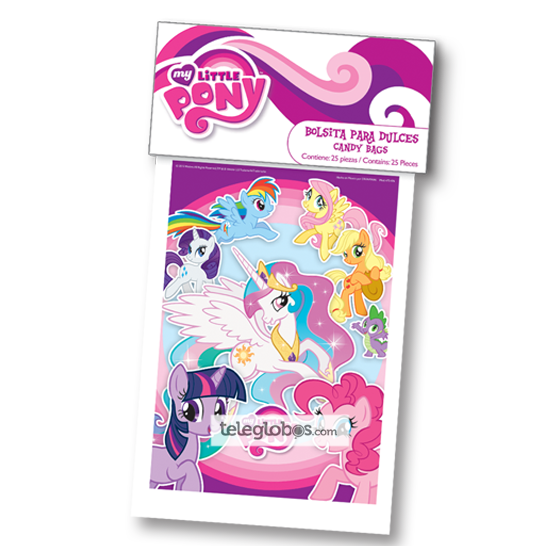 25 Bolsitas para Dulces de My Little Pony