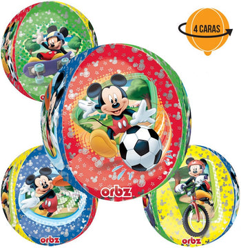Mickey Mouse Orbz Globo Metálico