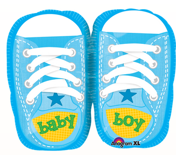 Baby Boy Sporty Blue Kicks MiniSh Globo Metálico