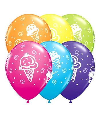 12 x Globos Látex 11 Copitas De Helado Qualatex