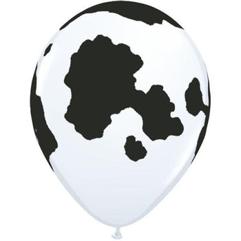 10 x Globos Látex 11 Vaca Frisona Qualatex