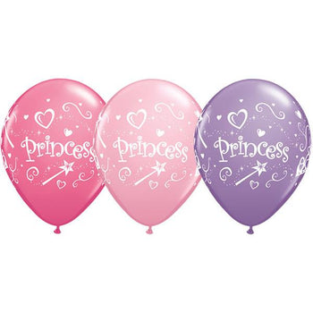 10 x Globos Látex 11 Princess Rosa Lila Magenta Qualatex