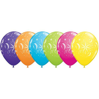 12 x Globos Látex 11 Globos Brillantes Qualatex