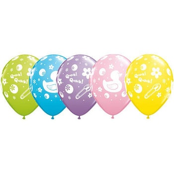 10 x Globos Látex 11 Patito de Hule Qualatex